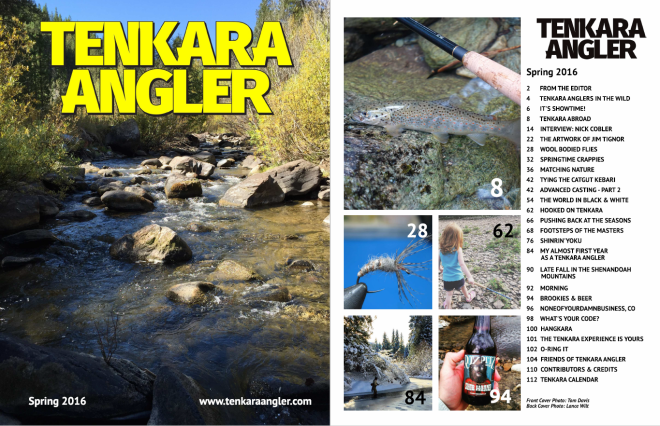 Tenkara Angler Spring 2016 w Table of Contents